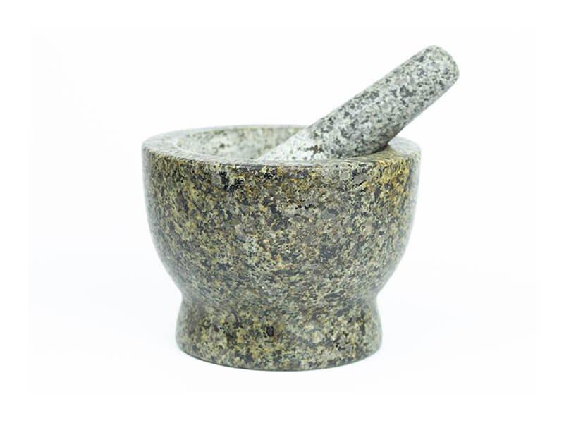 Mužar A5p-G5 granit polirani crno-sivi 170mm